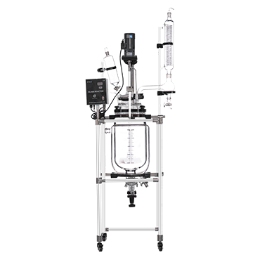 20L GR-20L Wholesale Reaction Equipment Jacketed Double Glass Chemical Reactor